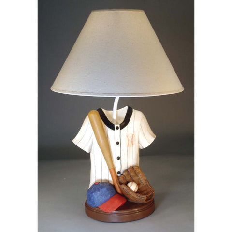 Baseball Jersey, Hat and Glove Lamp