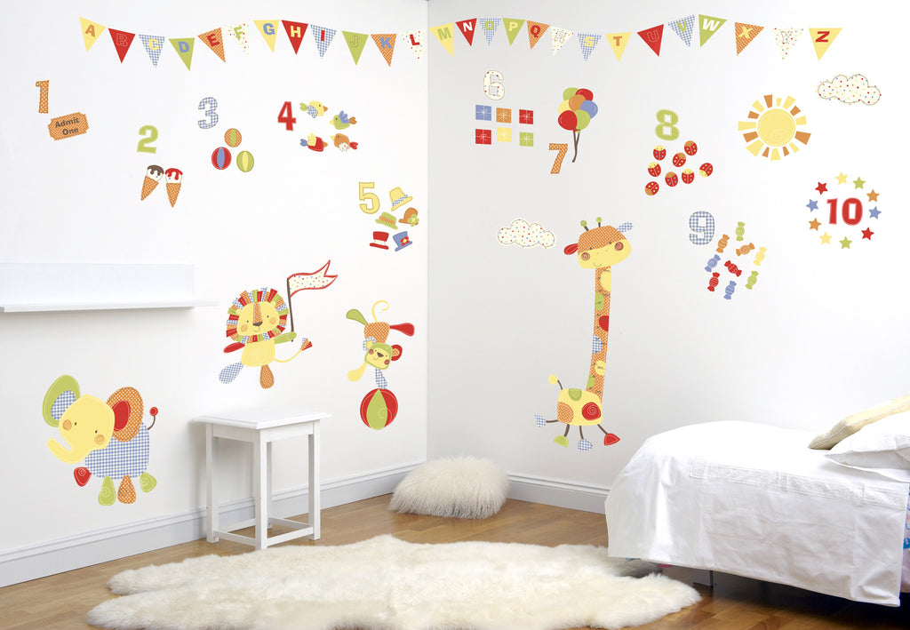 Jolly Jamboree - Jungle / Zoo Animal Wall Decals