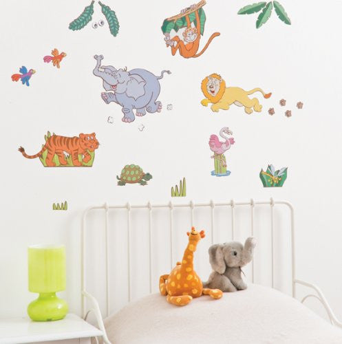 Jungle Zoo Animal Wall Decals Fun Rooms For Kids