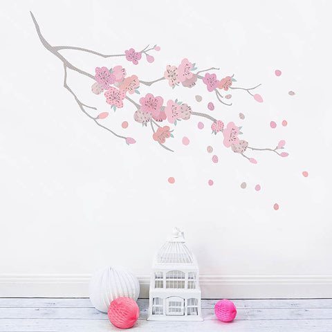 Cherry Blossom Branch Fabric Wall Decals