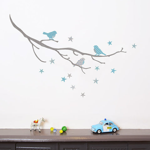 Birds on a Branch Fabric Wall Decals