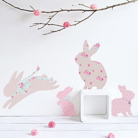 Bunny Fabric Wall Decals