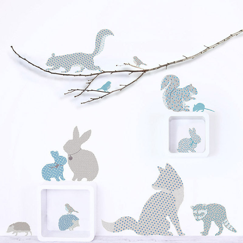 Woodland Animals Fabric Wall Decals
