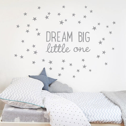 "Dream Big Little One"" Fabric Wall Decal"