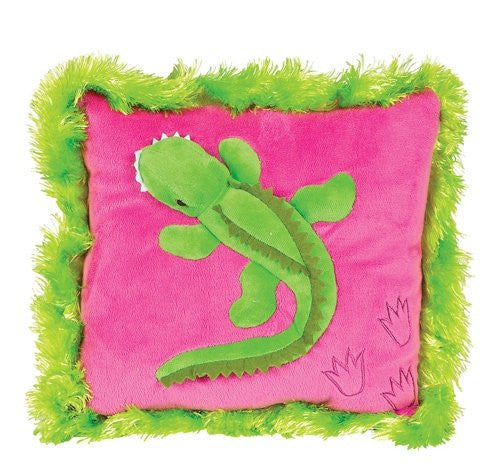 Neon Raised Alligator Pillow