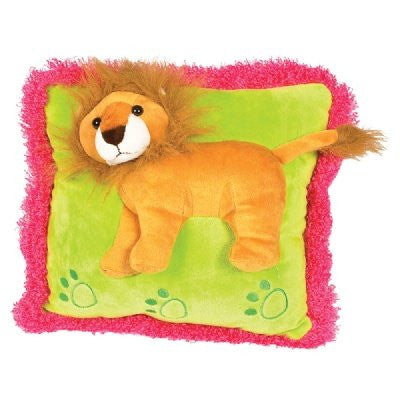 Neon Raised Lion Pillow