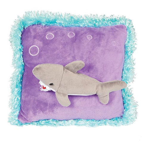 Neon Raised Shark Pillow