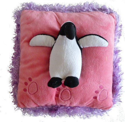 Neon Penguin Pillow