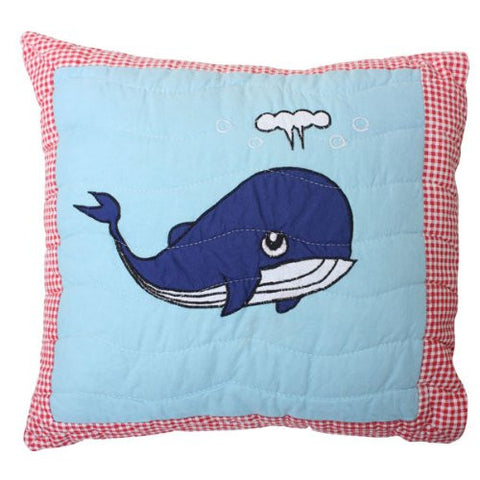 Whale Quilted Pillow