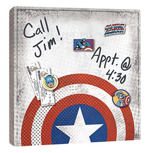 Captain America Wall Art captain america shield canvas wall art - dry erase and with