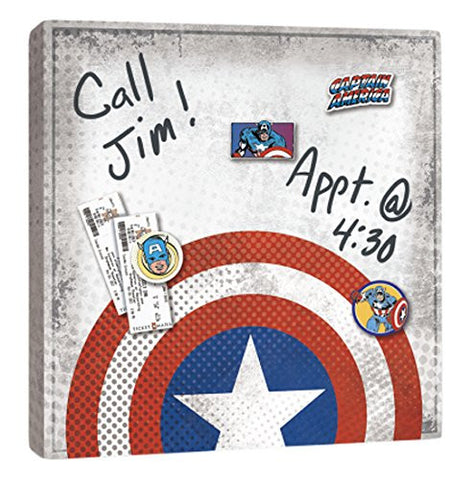 Captain America Shield Canvas Wall Art - Dry Erase and with Magnets