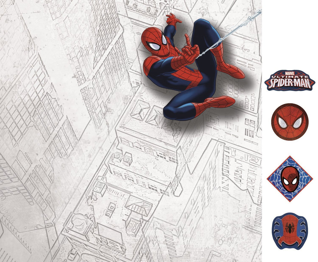 Ultimate Spiderman Canvas Wall Art - Dry Erase and with Magnets