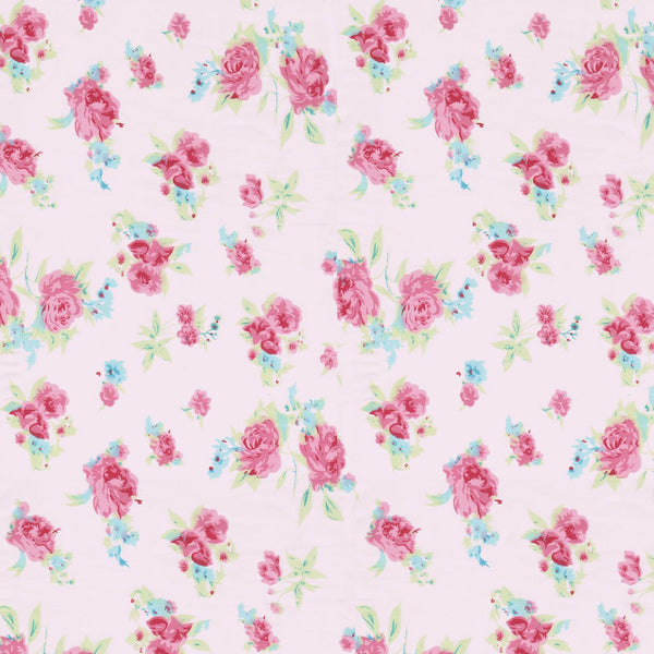 Girl pink floral fabric nursery wall letters fun rooms for Floral nursery fabric