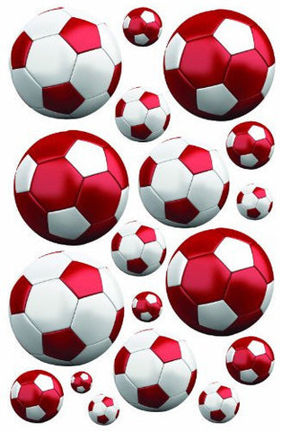 Red Soccer Wall Decals