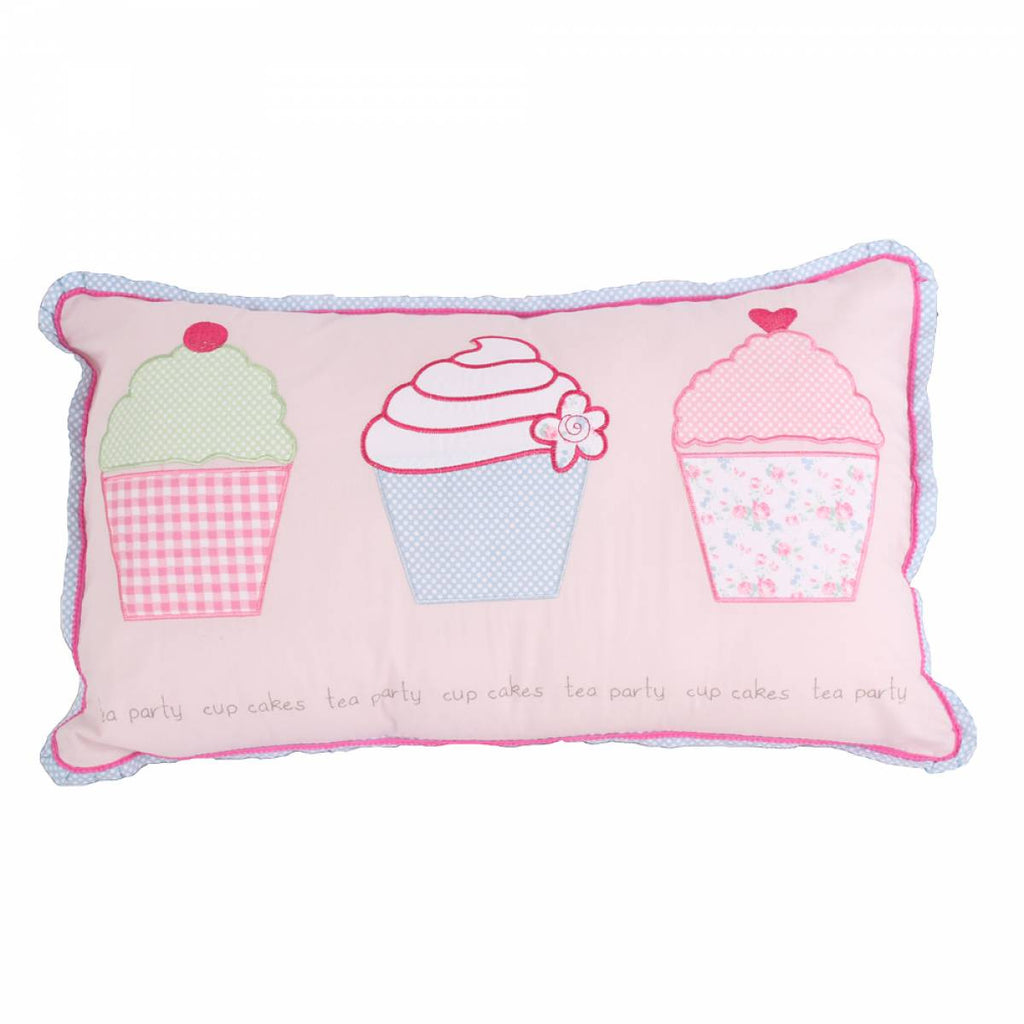 Tea Party Cupcake Pillow