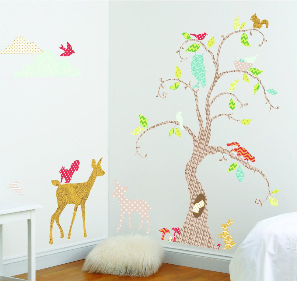 Woodland Tree Nursery Wall Decals