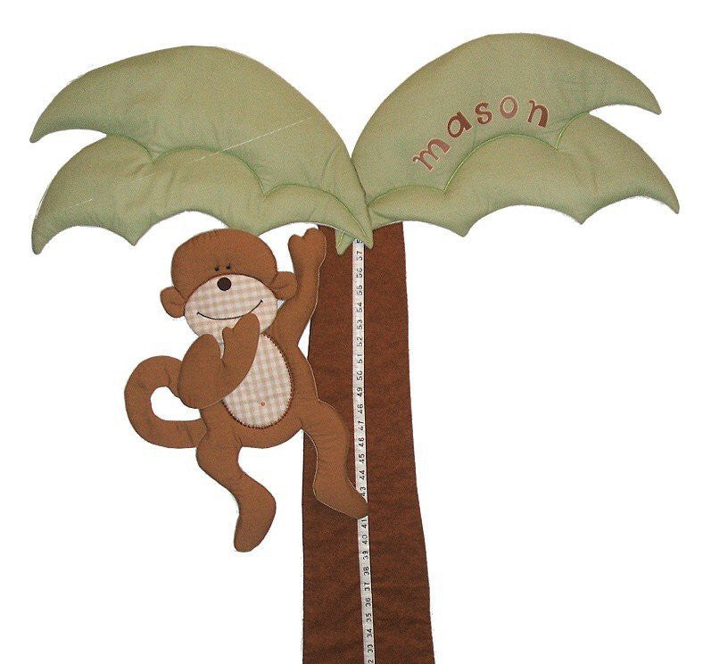 Monkey Tree Jungle Fabric Nursery Growth Chart Fun Rooms For Kids