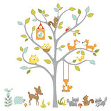 Woodland Fox and Friends Tree Giant Wall Decals