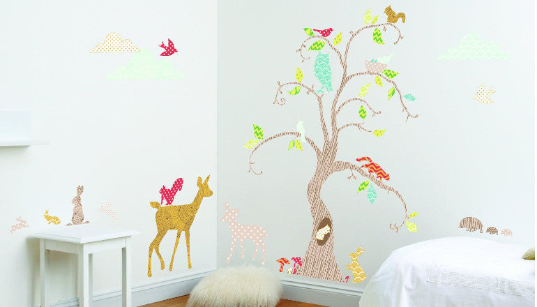 Woodland Tree Wall Decal Kit