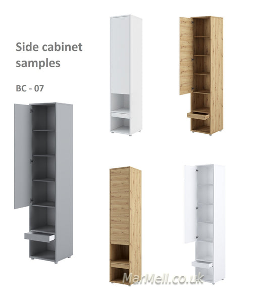 Tall Storage Cabinet for Vertical Wall Bed fold-down bed samples