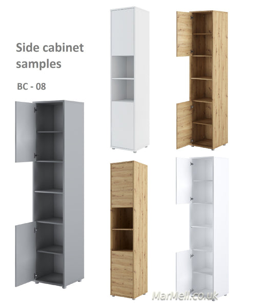 Tall Storage, Cabinet, wardrobe for Vertical Wall Bed fold-down bed samples