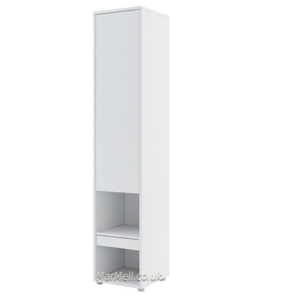 Tall Storage Cabinet cupboard  with shelves for Vertical Wall Bed fold-down bed marmell