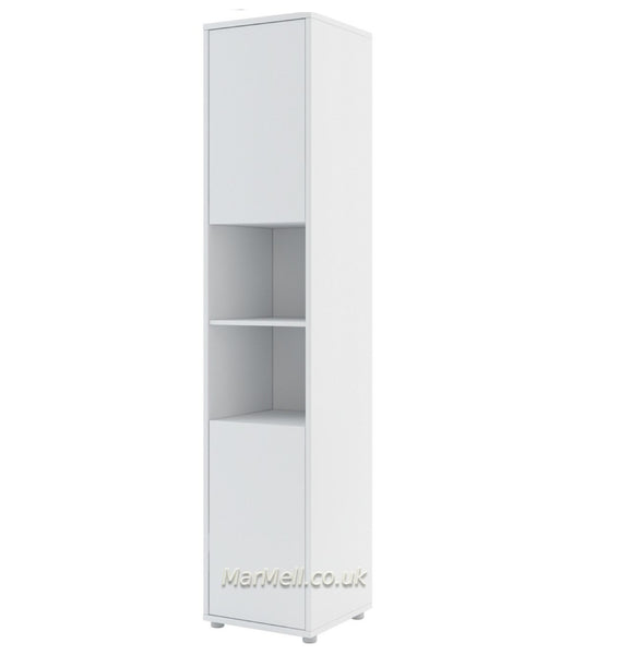Tall Storage Cabinet cupboard with shelves push to open door for Vertical Wall Bed fold-down bed marmell