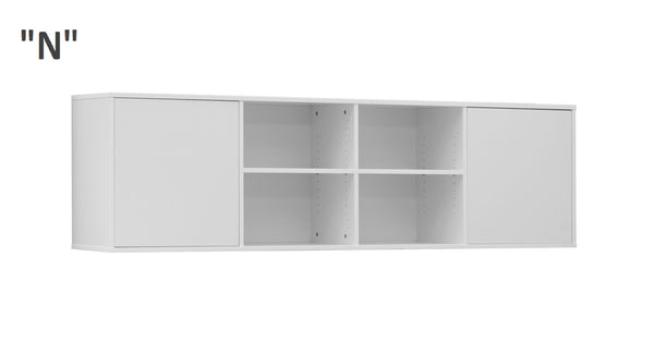 bed top cabinet, over bed unit, bed storage, marmell