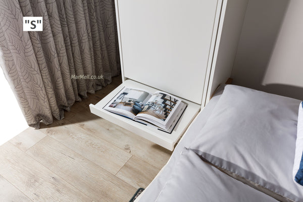 cabinet with a little table for wall beds
