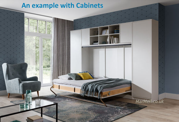 double horizontal wall bed with cabinets fold down Murphy Space Saving hidden fold away folding convertible bed marmell