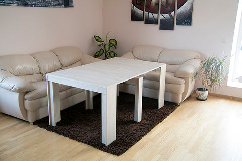 light oak extending dining table
