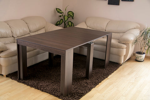 dark walnut extending dining table