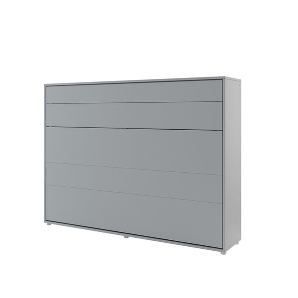 horizontal double wall bed grey closed
