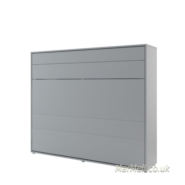 horizontal king size wall bed Murphy bed space saving fold-down bed gray