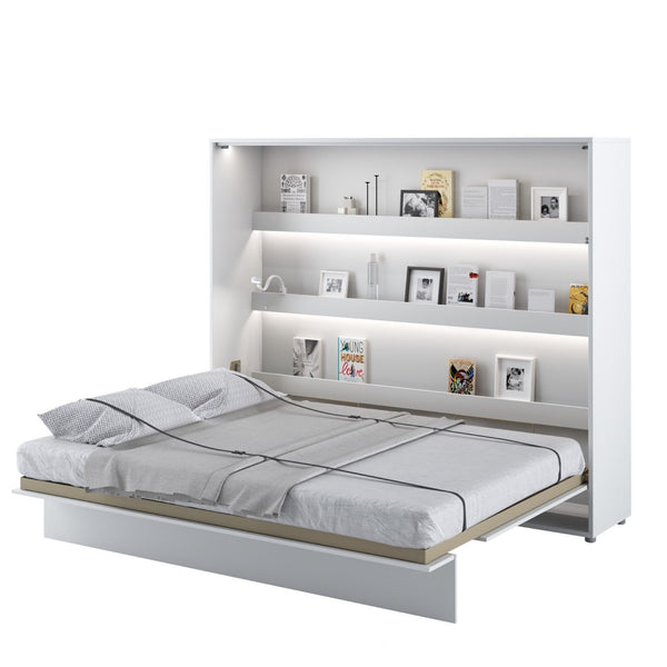 horizontal king size wall bed Murphy bed space saving fold-down bed with shelves