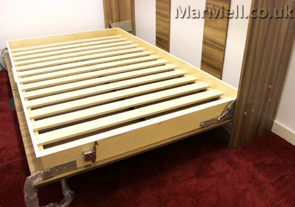 horizontal wall bed, Murphy bed, folding bed, hidden bed, space saving bed, fold-down bed, berdoom