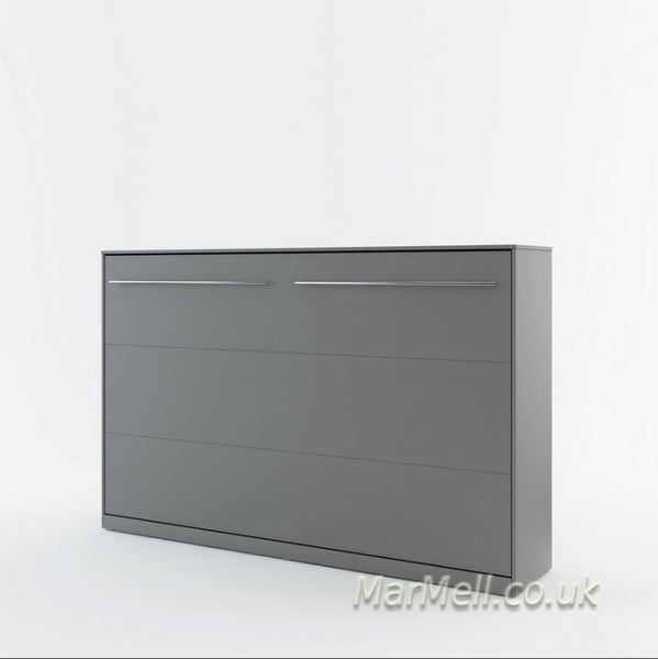 horizontal wall bed, murphy bed, hidden bed, multifunctional bed, folding bed, grey