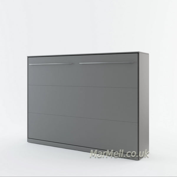horizontal wall bed, murphy bed, hidden bed, space saving bed, fold-down bed