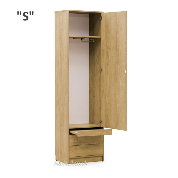 oak cabinet with a little table for wall beds open marmell