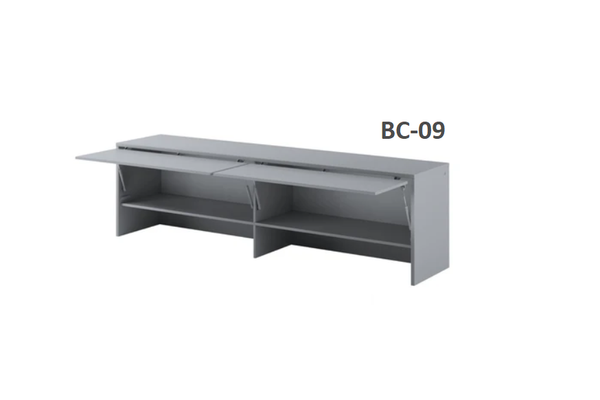 over bed cabinet grey open unit for double bed