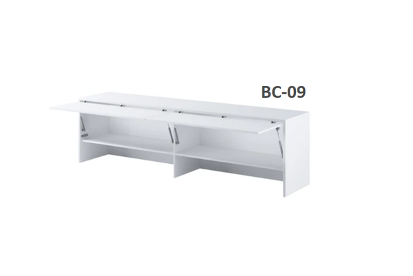 over bed cabinet white open unit for double bed