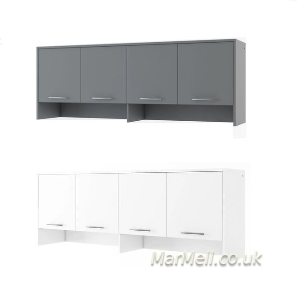 over bed unit, cabinet for horizontal wall bed, murphy bed