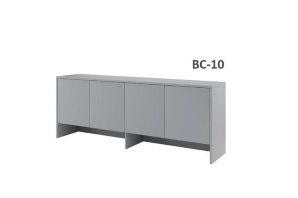 over bed unit for horizontal wall bed top cabinet