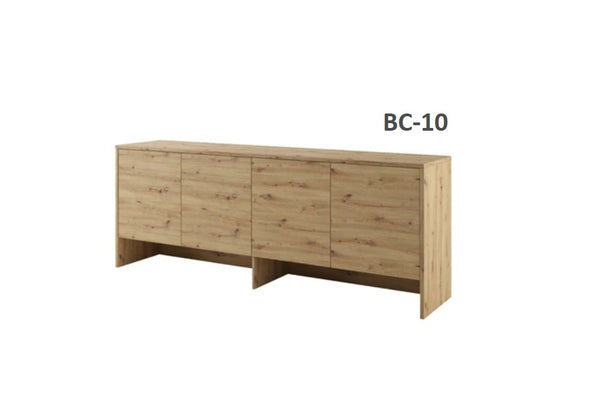 over bed unit for horizontal wall bed top cabinet oak