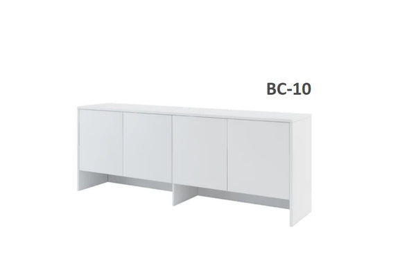over bed unit for horizontal wall bed top cabinet white