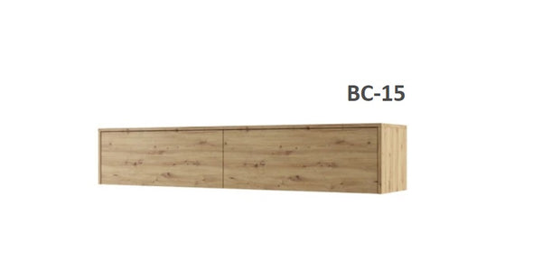 over bed unit top cabinet for king size wall bed Murphy bed oak  marmell