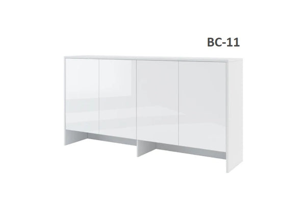 over bed unit top cabinet storage for single wall bed Murphy bed top cabinet gloss marmell