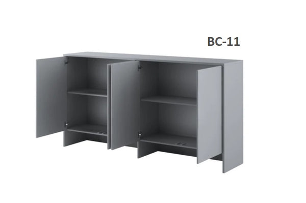 over bed unit top cabinet storage for single wall bed Murphy bed top cabinet open marmell
