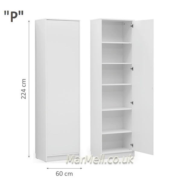 side cabinet white for wall beds