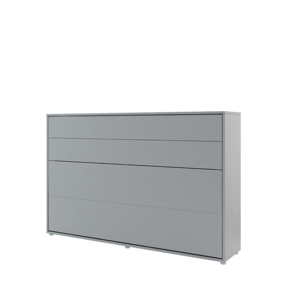 small double horizontal wall bed grey